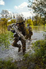 Green Berets soldiers in action