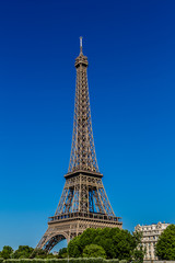 Tour Eiffel (Eiffel tower) from the Seine River. Paris. France.