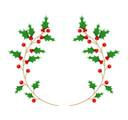leafs christmas decoration isolated icon