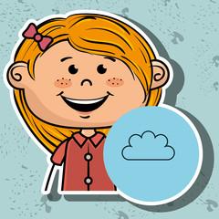 girl student school vector illustration graphic eps 10