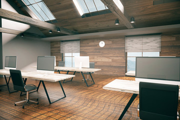 Country style office interior