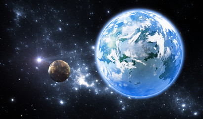 Extrasolar planet or exoplanet, another Earth-like planet