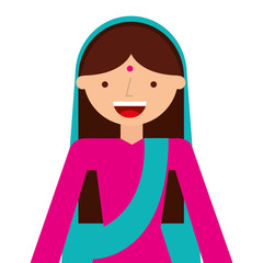 islam woman character isolated icon