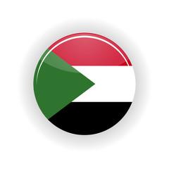 Sudan icon circle isolated on white background. Khartoum icon vector illustration
