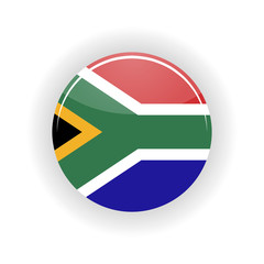 South Africa icon circle isolated on white background. Pretoria icon vector illustration