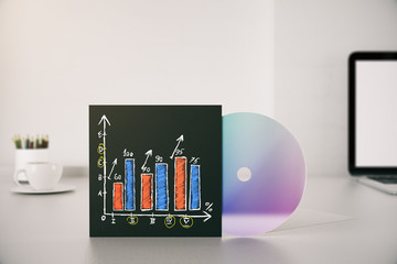 Business chart on CD cover