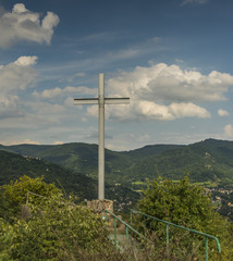 Cross in valley of river Labe