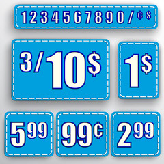 Vector abstract set of price stickers