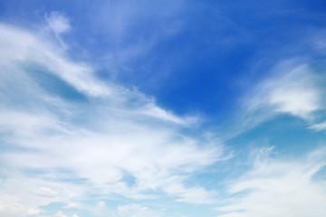 beautiful soft cloud on blue sky