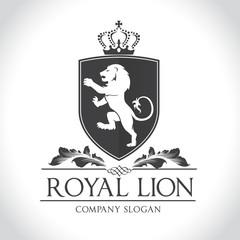 Lion logo, Royal lion logo,hotel logo template