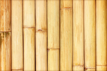 Old bamboo fence background; Old natural bamboo fence texture ba