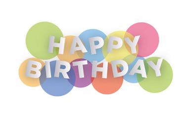 Happy Birthday creative design
