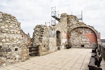 Ruin castle of Visegrad, Hungary, ancient architecture