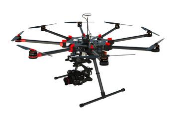 Drone Profesional de ocho ejes en 3d