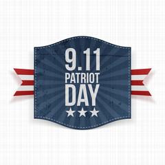 Eleventh September Patriot Day national Label
