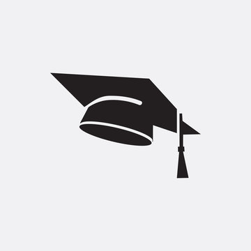 Graduation cap icon illustration