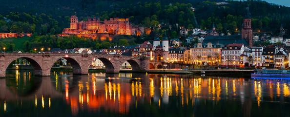 Night view of Heidelberg, Germany