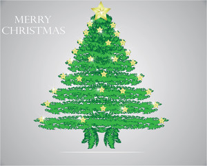Christmas tree, realistic vector illustration