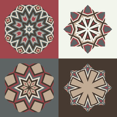 Vector logo design templates and patterns. Abstract geometric icons. Set of creative symbols.