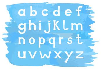 Alphabet mit Kleinbuchstaben