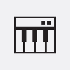 Synthesizer icon illustration