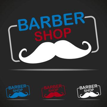 logo barber shop hipster barbier