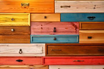 Colorful Wooden Drawer