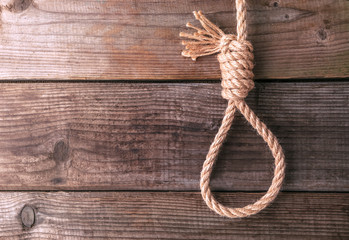 rope knotted in noose