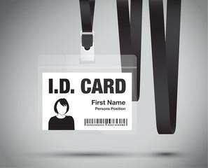 id card woman in black