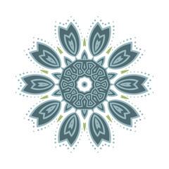 Buddhism cute aquamarine pattern lotus