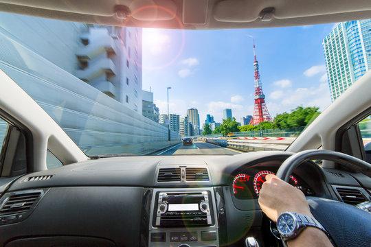 高速道路の車窓