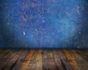 Blue Grunge Interior Room