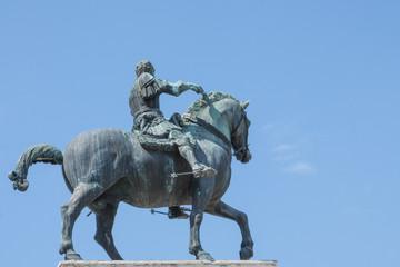 Equestrian statue of Gattamelata in Padua, Italy