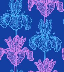 vector seamless dark iris background
