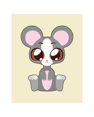 Cute mouse illustration