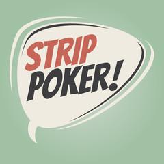 strip poker retro speech balloon