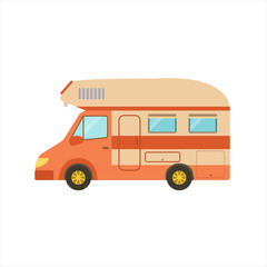 Orange Stripy Travel Van