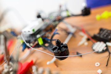 Making of flying drone