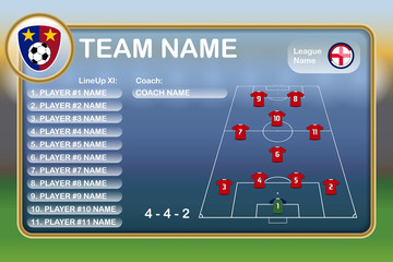 Football Lineup Eleven