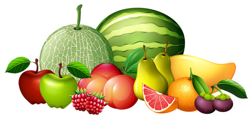 Different kinds of fresh fruit