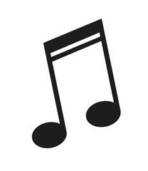 flat design music note icon vector illustration