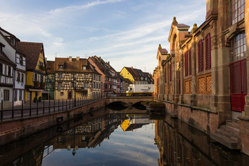 Reflection of Colmar in the morning