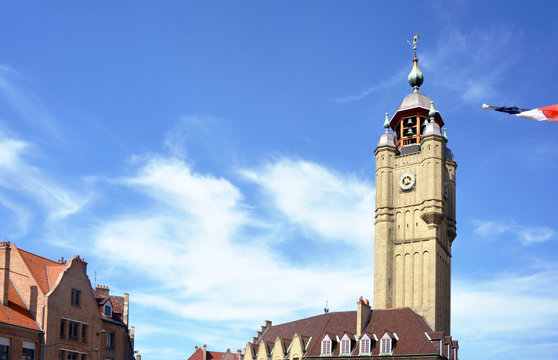 Bergues France Tower in the City Center