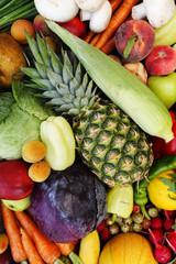 Studio photo of different vegetables