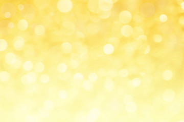 abstract yellow light bokeh for background