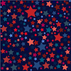 USA celebration pattern with stars in national colors for independence day