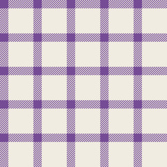Seamless pattern with trendy stylish cell Gingham. The pale pink purple and white.