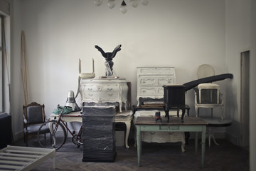 Piled furniture