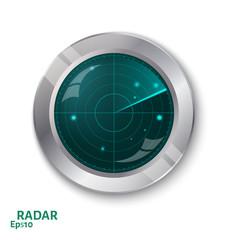 Radar icon. Illustration white background for design.Radar scree