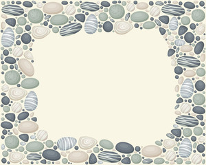Vector frame with stones
